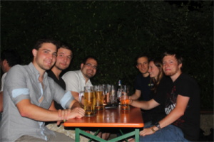 (From left to right: Nathanael, Alexander, Jonas, Susanne, Patrick)