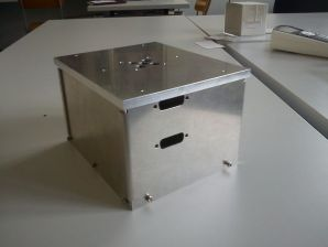 Electronics box for inside of experiment.